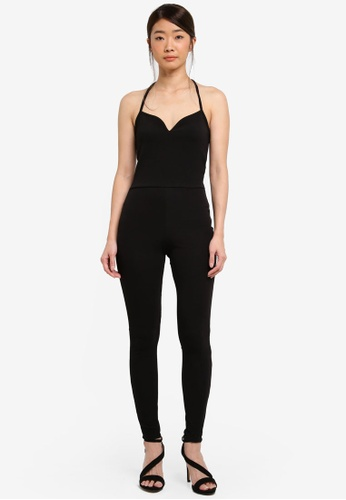 Miss Selfridge black Notch Front Liv Jumpsuit 4AB8FAA98F04BDGS_1