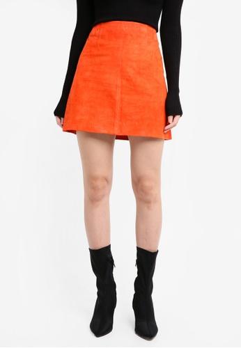 River Island orange A-line mini skirt RI009AA0T19TMY_1