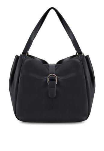 ZALORA black Buckle Detail Shoulder Bag 15DF0ACA45BCF2GS_1