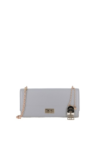 SEMBONIA grey Blooming Lover Crossbody-To-Clutch Bag 82972AC7F7BECEGS_1