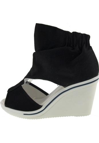 Maxstar 黑色 新款韩国鞋775-Wrinkle時尚帆布布混合女黑色 US Women Size MA345SH63HCITW_1