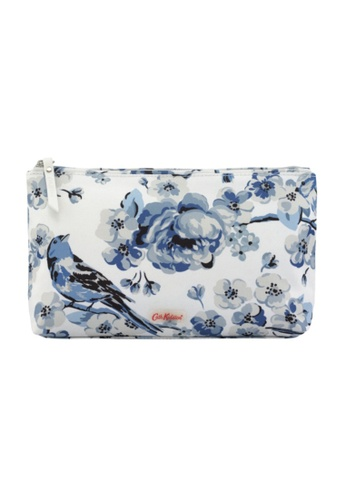 Cath Kidston blue Meadowfield Birds Poly  Zip Cosmetic Bag CA820AC0JBC2PH_1