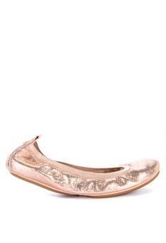 be7277e92 Yosi Samra pink and gold Samara Ballet Flats B4F11SH7902EEBGS 1