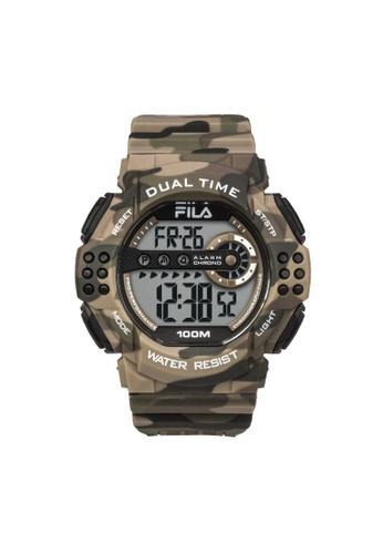 FILA Watches black Fila Digital White and Black Camo Rubber Watch 78079ACB610949GS_1
