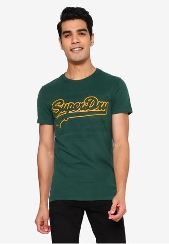 Superdry green Vintage Logo Emboss Tee B0DDBAA654AAC6GS_1