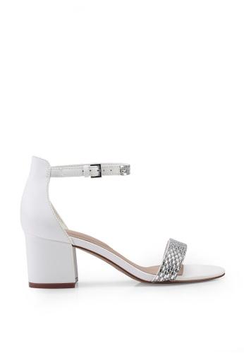 ALDO 白色 Vanami Open Toe Ankle Strap Block Heels EE562SHA0DA6EDGS_1