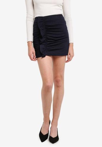 Mango navy Striped Pattern Skirt MA193AA0RTE0MY_1