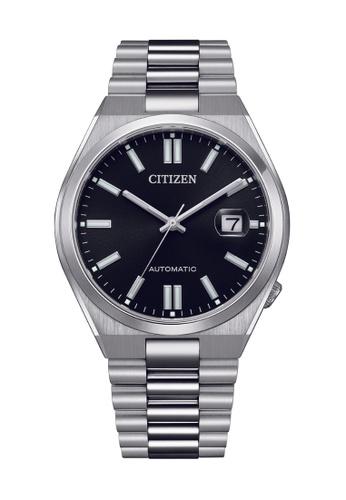 Citizen silver CITIZEN AUTOMATIC NJ0150-81E BLACK DIAL STAINLESS STEEL MEN'S WATCH 67213AC1A184C6GS_1