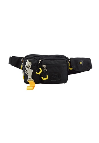 EXTREME black Extreme Nylon waist bag casual chest bag travel adventure hiking fanny pack 01B75AC5C8F237GS_1