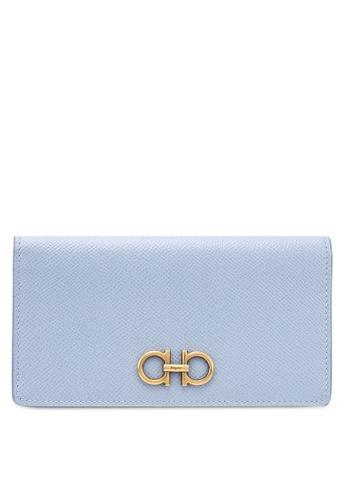 Ferragamo blue Gancini Wallet (zt) 9C288ACAC499FDGS_1