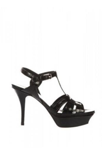 SAINT LAURENT 黑色 SAINT LAURENT/ 聖羅蘭TRIBUTE高跟涼鞋 BC56DSH4D40F93GS_1