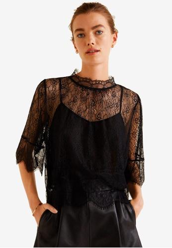 Mango black Lace Blouse 8D1CFAA529EDBFGS_1