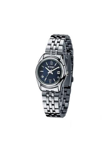 Eyki black Eyki E-Times W8470 Steel Watch One pair (Silver Blue) EY078AC90RRPMY_1