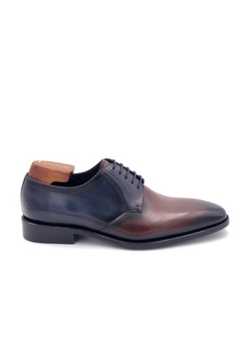 Giorostan 褐色 男仕正裝德比鞋 66627SH701E371GS_1