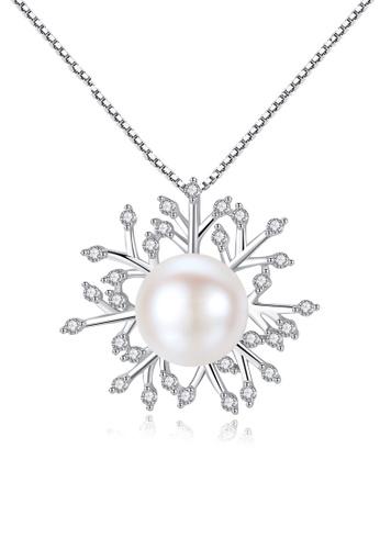 A.Excellence white Premium White Pearl Elegant Necklace 54580AC0D54FD1GS_1