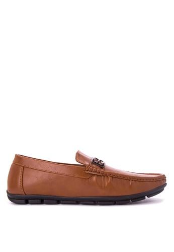H2Ocean brown Mens Casual Loafers H2527SH0J9TPPH_1