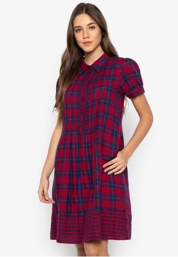Fatima Beltran Clothing Line red A-Lined Plaid Dress 85CF2AA61B1861GS_1