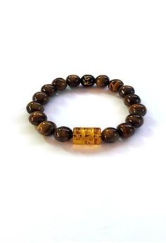 Feng Shui Tiger Eye with Protection Mantra Bracelet