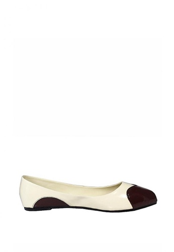 Liza Lyn brown and beige Heartheana Flats LI218SH76UJVPH_1