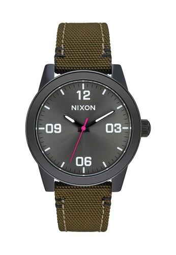 Nixon black G.I. NYLON BLACK/OLIVE 3617AAC7BB8F8FGS_1