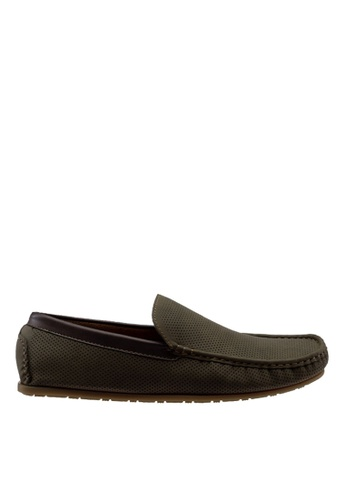 Antton & Co green Antton & Co Ermal-Plain Loafer In Green AC8AASHEF69996GS_1