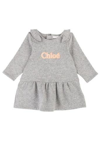 Chloé grey Chloé Elegant Dress with French Braid Embroidery 4E638KA39C875BGS_1