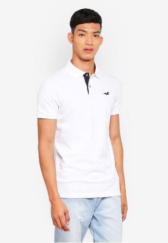 Hollister white Pop Icon Solid Polo Shirt 35CF5AA2EB65B5GS_1