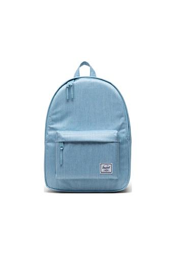 Herschel blue Herschel Classic Mid-Volume Backpack - Light Denim Crosshatch D0961AC754B821GS_1