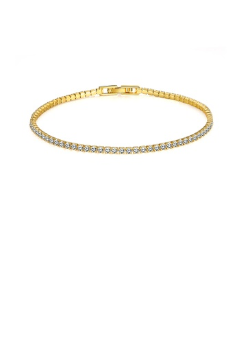 Glamorousky white Simple Plated Gold Geometric Cubic Zircon Bracelet 198BEAC05E6A6DGS_1