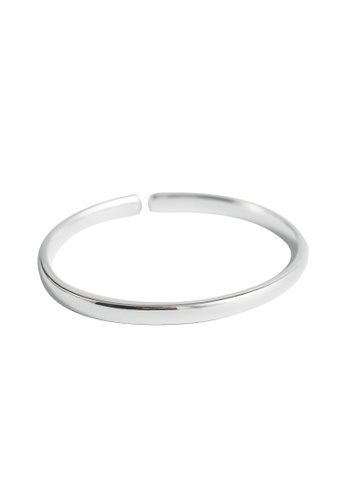 OrBeing 白色 Premium S925 Sliver Geometric Ring DA1D4AC3BB6742GS_1