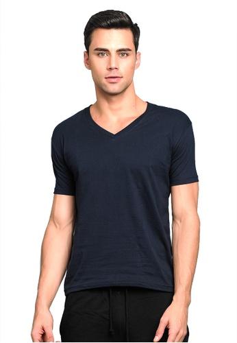 BENCH blue V Neck Undershirt BA940US6F85EB0GS_1