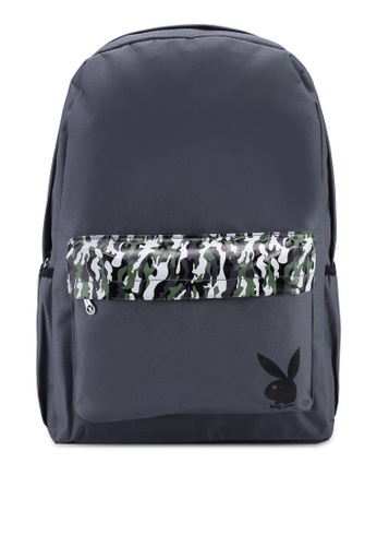 Playboy grey Playboy Backpack 965D9AC87B8F2CGS_1
