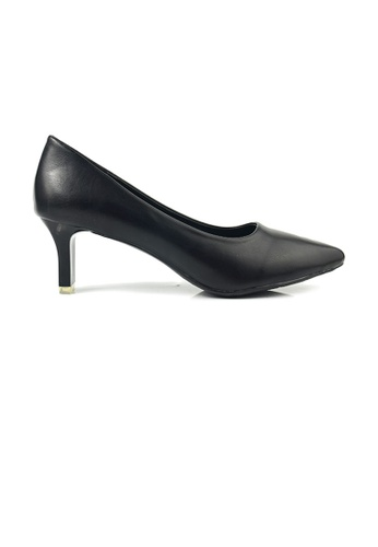 SHINE black Blade Heel  Pumps with Satin Upper 4683DSH8377777GS_1