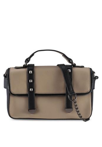 Unisa beige Colour Block Convertible Top Handle Bag D934CACD8BDDEAGS_1