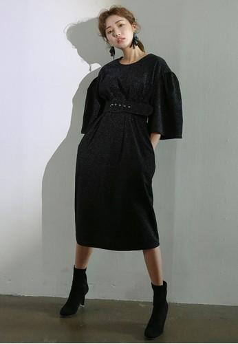Belted Ruffle Sleeve Sparkle Dreesprit高雄門市ss, 服飾, 洋裝