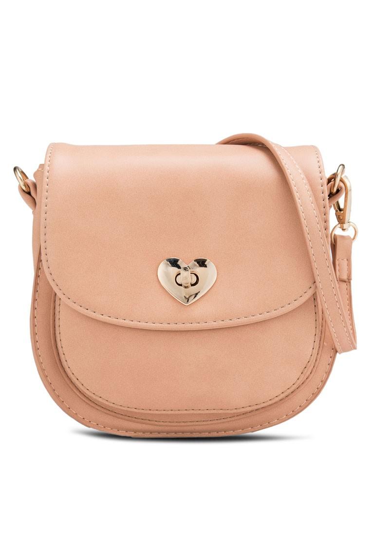 Mini Heart-Lock Crossbody Bag