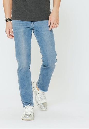 H:CONNECT blue Washed Denim Pants 9869DAAC5EA4D0GS_1