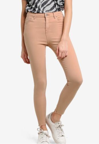 TOPSHOP pink MOTO Dusky Pink Jamie Raw Hem Jeans TO412AA27ZLSMY_1