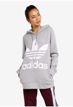 uk availability 35a62 783fa adidas grey adidas originals trefoil hoodie 6A82BAA4E3B01CGS 1