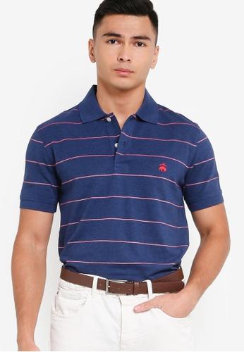 Brooks Brothers blue Knit Polo Shirt DE787AA38E1DD7GS_1