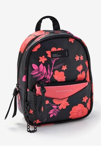 Justice black Justice Girls Floral Mini Backpack & Wristlet EF82FKC21C3ED2GS_1