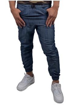 Men's Jogger Pants Low Crotch Front Pocket