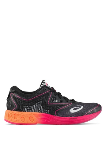Asics black and pink and orange Noosa FF Shoes AS989SH0SD3TMY_1