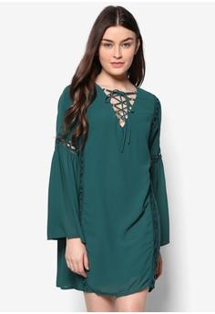Lace Long Sleeve Shift Dress