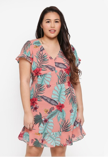 Junarose pink Plus Size Izador Short Dress 55894AA7585070GS_1