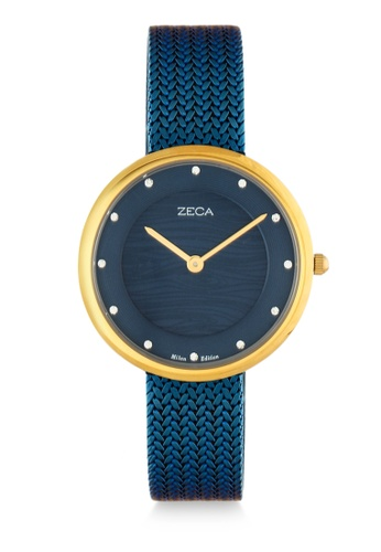 ZECA blue Zeca Watches Couple Ladies Fashion - 1001L(4) Blue Gold F5A2CAC85218BEGS_1