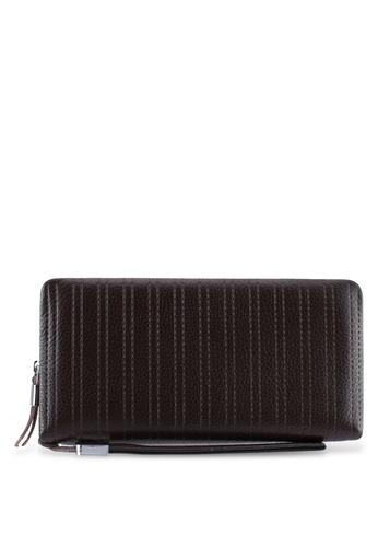 ZALORA brown Leather Oversized Wallet 57BCDZZE00B0EEGS_1