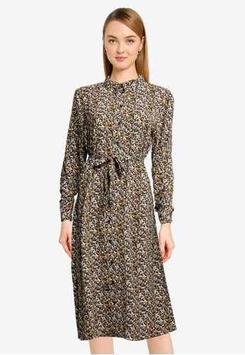 JACQUELINE DE YONG black Piper Placket Dress D93D0AA76D20FEGS_1