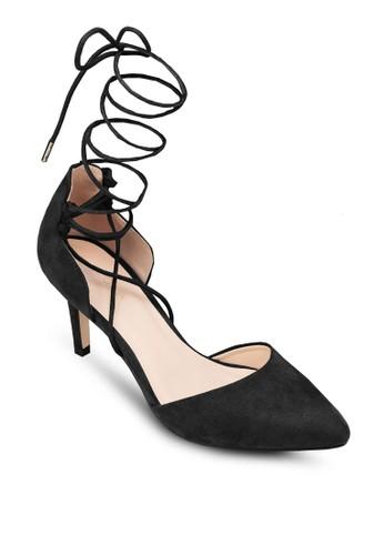 纏繞繫帶側空zalora 包包評價高跟鞋, 女鞋, 厚底高跟鞋