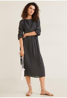 3824586739 35% OFF Mango Polka Dot Pleated Dress RM 240.90 NOW RM 156.90 Sizes XS S M L